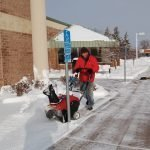 Commercial Building Sidewalk Clearing