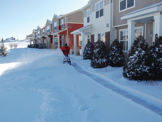 Townhome Sidewalk Clearing