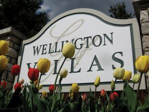 Tulips Neighborhood Entrance Sign